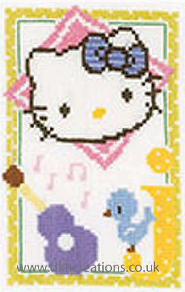 Hello Kitty Alphabet Letter J Cross Stitch Kit